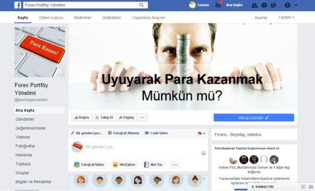 Facebook Forex Portföy Yönetimi